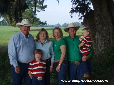 Family photo of the owners of Deep Roots Meat